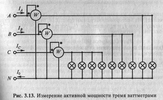трехфазной цепи при